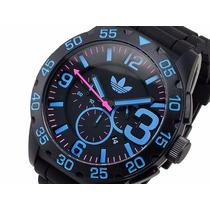 Relógio Adidas Adh2886 Black Pulseira Silicone Original