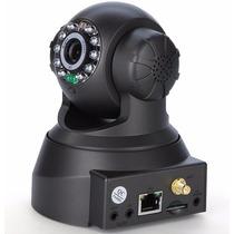 Camera Ip Wi-fi Sem Fio Sistema P2p Imagem Hd Entrada Cartão