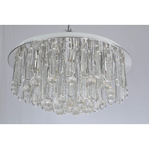 Lustre Plafon De Cristal 8 Lamp.e14 + Led + Controle R.