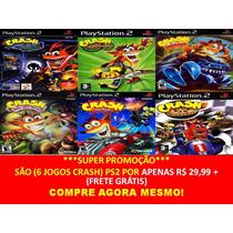 Crash Tag Team Racing Playstation 2 (6 Jogos Ps2 Infantil