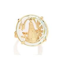 Anel Rommanel Cristal 25mm Imagem Nossa Senhora Aparecida