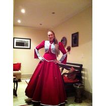 Vestido Para Dança Gaúcha/ Folclórica/ Festa Junina