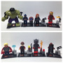 Lego Compatível - Kit 8 Bonecos - Vingadores 2 C/ Big Hulk