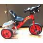Triciclo Infantil Tubular De Aço C/ Pneus Para Manobras