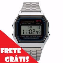Lote Atacado Revenda 10 Relógios Cassio Retrô Vintage Prata