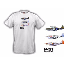 Camiseta Aeromodelismo P51 Mustang - Hobbie Brasil
