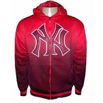 Jaqueta New York Forrada Vermelha E Preta Dêgrade