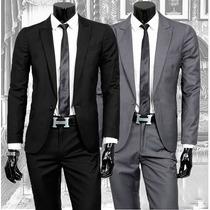 Terno Oxford Slim Corte Italiana 2 Botoes