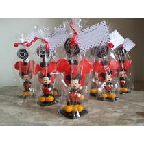 10 Lembrancinhas Mickey Em Biscuit Porta Foto Aniversário