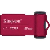 Pen Drive 8gb Kingston Dt108 Slim Original Novo