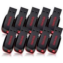 Kit 10 Pen Drive Sandisk 8gb Original Preço De Atacado