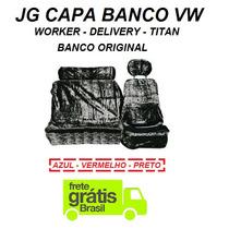 Capa Chinil Banco Caminhão Vw Todos 2 Banco Original Pelucia
