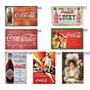 Kit C/ 3 Quadros Placas Decoração Bar Retro Coca Cola