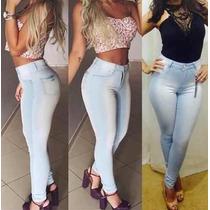 Calça Jeans Cintura Alta Hot Pants Levanta Bumbum + Calcinha