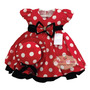 Vestido Infantil De Festa Minnie Joaninha Vermelho E Chapéu