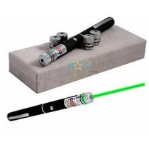 Super Caneta Laser Pointer Verde 5000mw + Kit Completo