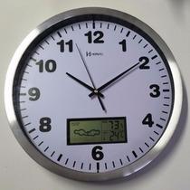 6413 - Relógio Parede Sweep Termômetro Higrômetro Herweg