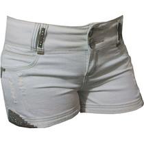 Shorts Jeans Branco Pit Bull Com Bojo Modela Levanta Bumbum