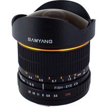 Lente Samyang 8mm Olho De Peixe F/3.5 Canon Rokinon