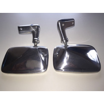Par Retrovisor Do Chevette Tubarão 72....metal Cromado Novo