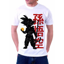 Camisa, Camiseta Anime Dragon Ball Goku