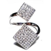 Jss-anel Falange Prata 925 Zirconias Micro Rodio Stile Pand