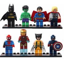 Lego Super Heróis Avengers Marvel Kit Com 8 Bonecos