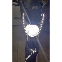 Adesivo Fita Tira Led Branca Tuning Carro Moto Flexivel