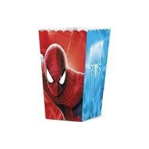 Caixa De Pipoca O Espetacular Homem Aranha 2 C/08 Unidades