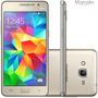 Telefone Celular Gran Prime Duos 4g Dourado Gps S/ Juros