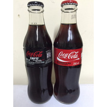 Par Garrafas Vidro Coca Cola E Coca Zero 250ml Lacradas