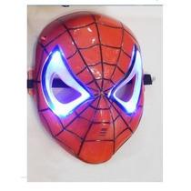 Máscara Do Homem Aranha Com Luz De Led Spider Man