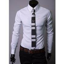 Camisa Social Slim Fit Importada Bonita E Barata - Frete Grt