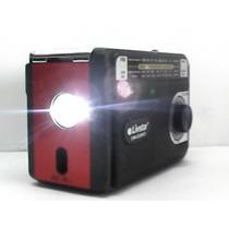 Rádio Am Fm Sw Usb Cartão Sd Lanterna Recarregável C/ Tomada