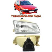 Farol Peugeot 106 Ano 92 93 94 95 96 Novo Depo Lado Direito