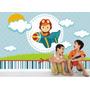 Adesivo Painel Decorativo Parede Infantil Menino Avião Mod30