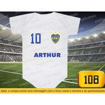 Body Ou Camiseta Times Boca Juniors Argentina Personalizado