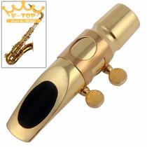 Boquilha Profissional Metal Sax Alto Pop/jazz-7 Dourada