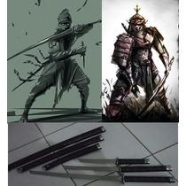 Promoção Kit Com 3 Katanas Espadas Grandes Samurai Ornamento