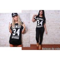 Camisetas Kings 34 Sneakers Feminina Mini Vestido