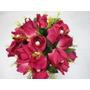 Buque Bouquet Noiva Flores Rosas Artificiais Lilás