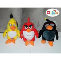 Kit Angry Birds C/ 3 Personagens Pelúcia De 25 Cm Original