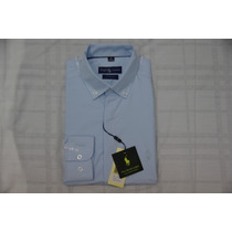 Camisa Social Masculina Polo Rauph Lauren, Cor Azul Claro.
