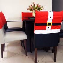 Kit 6 Capa Pra Cadeira Natal Roupa Do Papai Noel Feliz Natal