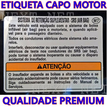 Capo Honda New Fit City Adesivo Tecnico Motor Moldura Honda
