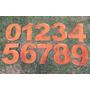 Algarismo P/ Residencia - Números Em Aço Corten 25cm Ref.bh
