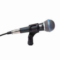 Microfone Fio Profissional Jwl 5 Dinamico Tipo Shure Ba-58