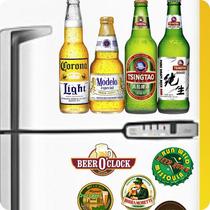 Kit Adesivo Geladeira - 07 Peças - Personalizar Geladeira
