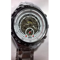 Relógio Mascul Pulso Automático Analogico Sport Militar Inox