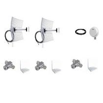 Kit 2 Antenas 20 + 1 60 Graus + 3 Rádios 1000mw + 3t + Cabos